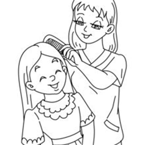 mother and daughter coloring pages hellokids.com