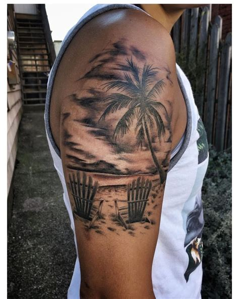 beach scene tattoo designs themed designs pictures to pin on