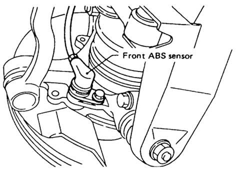 repair anti lock braking 1992 subaru justy auto manual repair guides anti lock brake system wheel speed sensors autozone com