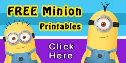 minion thank you card template free free printable despicable me 2 minion goggles and mouths