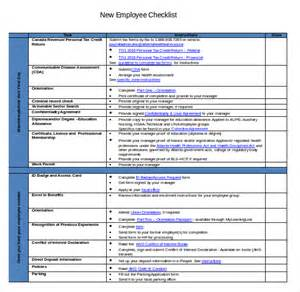 new employee checklist template new hire checklist template 12 free word excel pdf