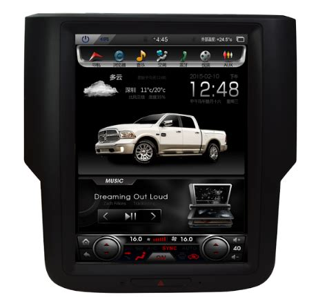"10.4"" vertical screen android navi radio for dodge ram"
