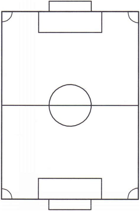 blank football field template soccer pitch clipart best