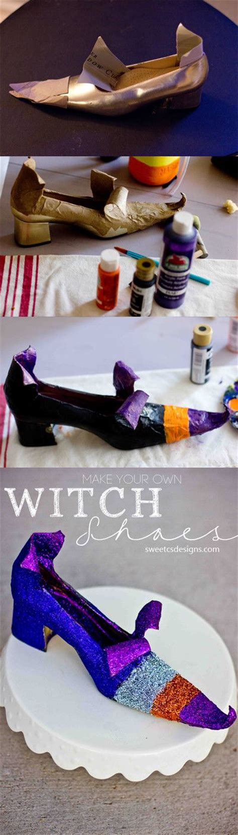 diy witch shoes make your own witch shoes crafts and crafts