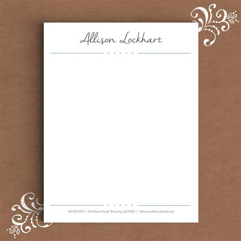 Letterhead Template For Word Diy Custom Letterhead Stationary Template
