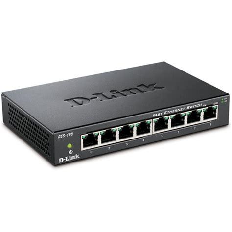D Link Fast Ethernet Switch 8 Port Des 1008c Promo d link des 108 8 port 10 100 fast ethernet switch des 108 b h