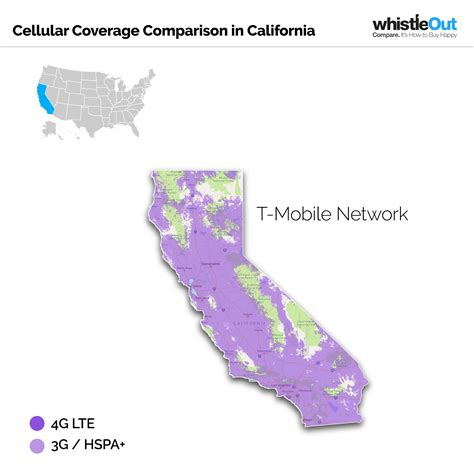 t mobile coverage map usa best cell phone coverage in california whistleout
