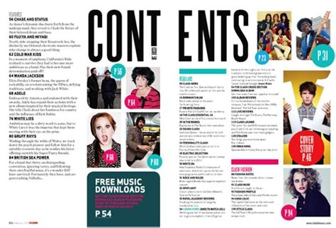 pdc media magazine layout research photographic research magazine contents page analysis erin mcginty