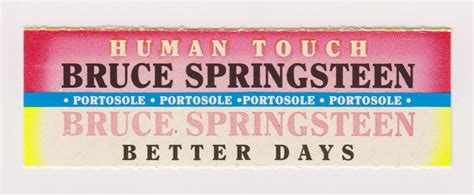 bruce springsteen better days bruce springsteen collection human touch better days