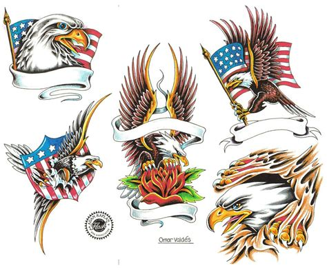 eagle with american flag tattoo designs eagle tattoos
