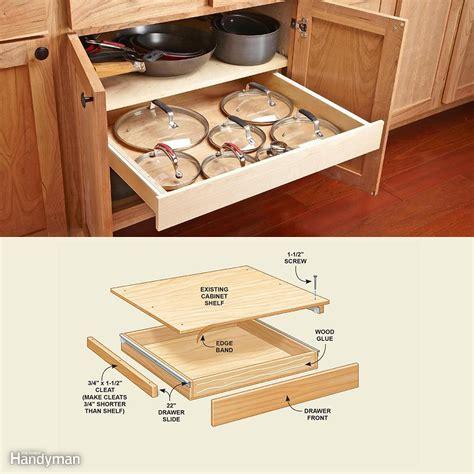 kitchen cabinet drawer organizers   build  family handyman