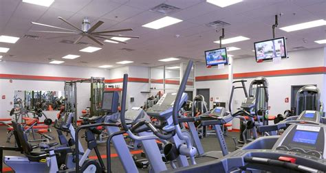 gym fans for fitness center uses large ceiling fans despite low