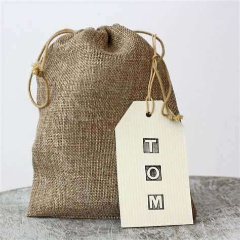 Pouch Goni hessian drawstring bag by the wedding of my dreams