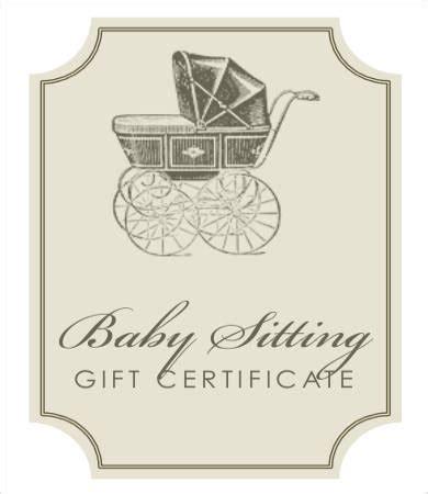printable gift certificate for babysitting printable gift certificate 7 free pdf psd format