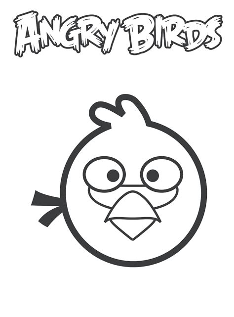 free blue angry bird coloring pages