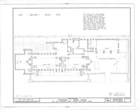 Robie House Floor Plan by Robie House First Floor Plan Design Pinterest Floor