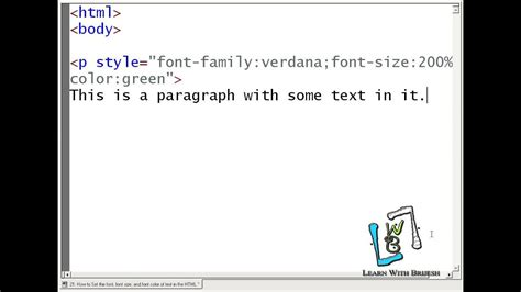 html color font 21 how to set the font font size and font color of text