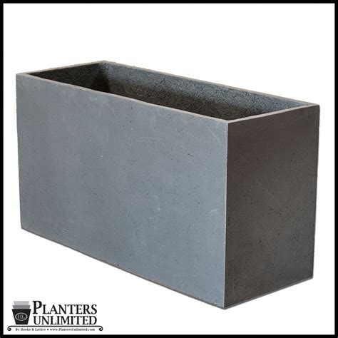 Rectangular Planter by Large Commercial Rectangular Planters Planters Unlimited