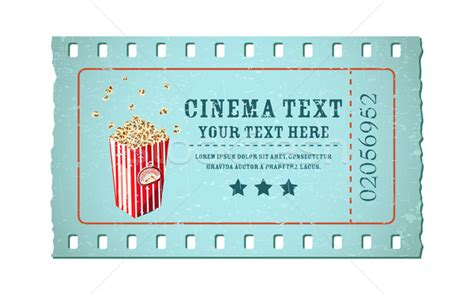 cinema ticket template word ticket vector illustration 169 vectomart 1922615