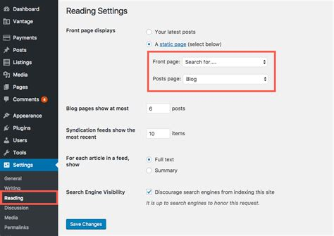 wordpress tutorial vantage setting up your vantage homepage appthemes docs