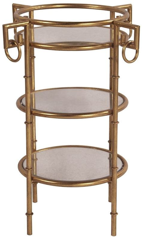 gold metal end table gold 3 tiered metal end table 11199 howard elliot