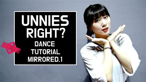 tutorial dance love me right 언니쓰 맞지 안무 배우기 거울모드 unnies right dance tutorial mirrored 1