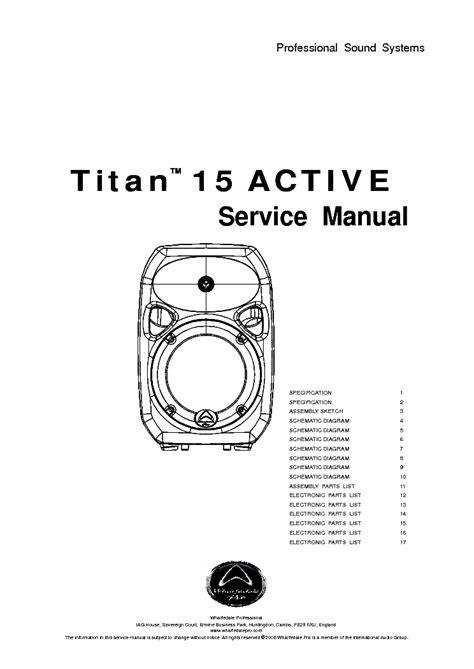 Wharfedale Titan15p Titan 15p Titan 15p Titan 15 P Speaker Pasif wharfedale titan 15 active service manual