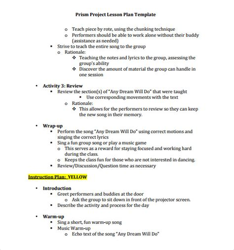 sle music lesson plan 7 documents in pdf psd