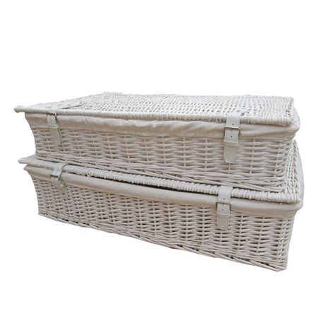 under bed storage baskets buy white wicker underbed storage baskets from the basket
