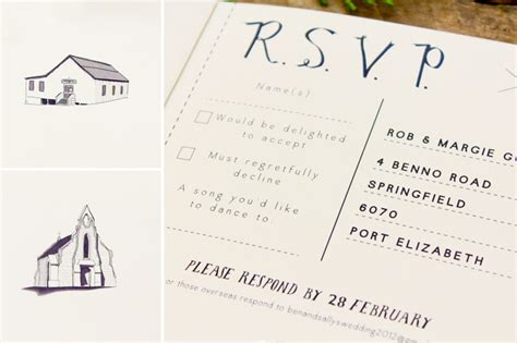 rsvp on wedding invitation meaning sally ben s sweet and simple illustrated wedding invitations