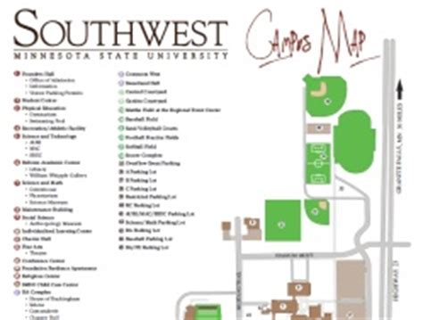 Southwest Minnesota State Mba Tuition by Smsu Cus Map My