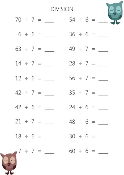 Divide Worksheets To Print by Division 187 Printable Math Worksheets 3rd Grade Division