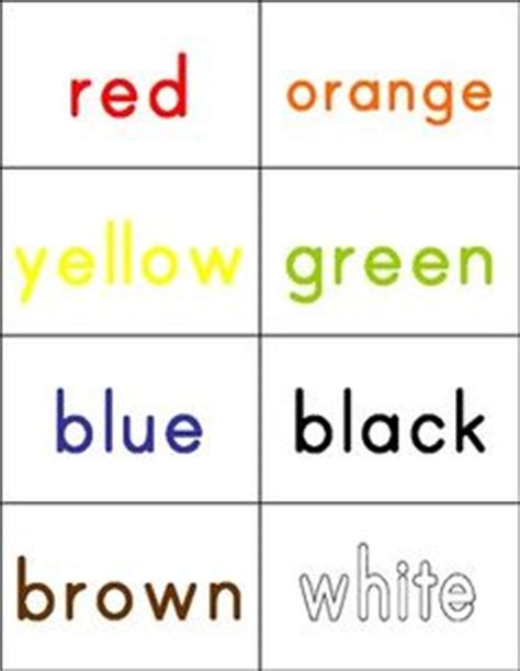 color words 1000 images about sight words on sight words