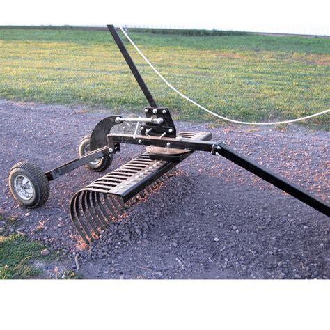 atv landscape rake 48 inch tow landscape rake