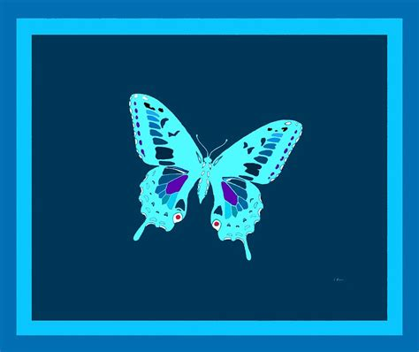 butterfly light l light blue electric butterfly digital by l brown