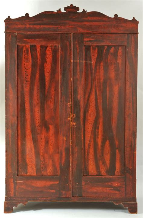 lot 301 grain painted wardrobe or armoire poss southern