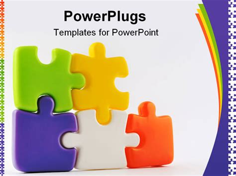 powerpoint template puzzle pieces free powerpoint template colorful puzzle pieces 7708