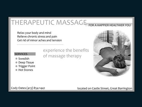 Massage quotes for business cards colourmoves