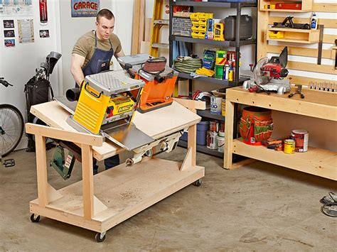 bench magazine flip top tool bench woodworking plan from wood magazine