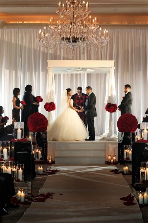 fabulous red black and white wedding by nadia d