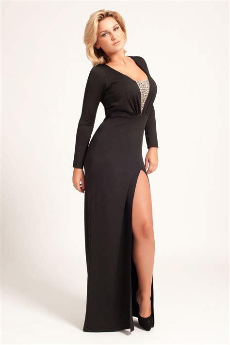 Maxi Dress Menyusui Bhm 20 black sleeve maxi dress