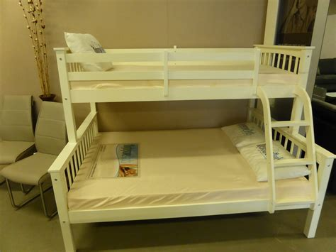 Trio Bunk Beds With Mattresses Trio Complete Bunk Bed Set With Mattresses Furnimax Brands Outlet