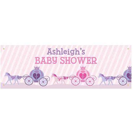 Baby Shower Banner by Personalized Princess Baby Shower Banner Walmart