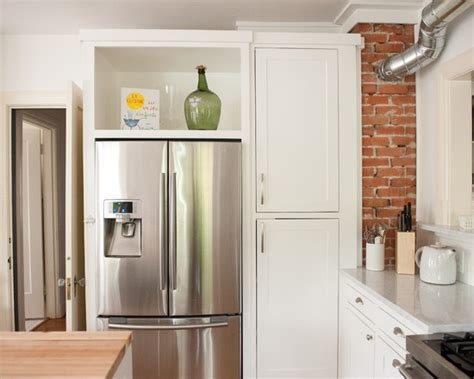 Kitchen Cabinets In A Box by 22 Best Kitchen Diy Fridge Enclosure Images On