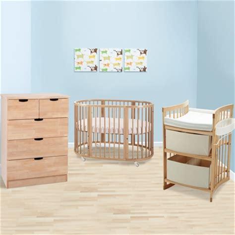 Stokke Sleepi 3 Piece Nursery Set Modern Oval Crib With Crib Dresser And Changing Table Set