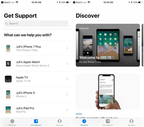 apple support apple support app updated with redesigned interface and
