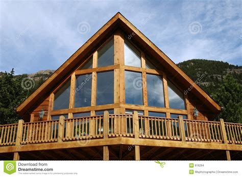 a frame building a frame cabin stock photo image of real housing home