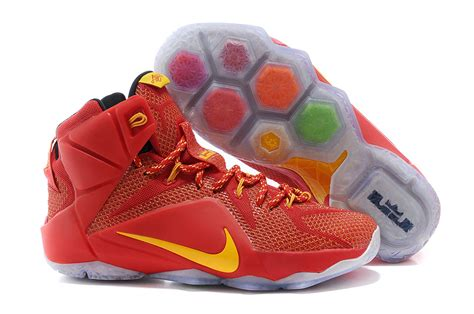 lebron 12 basketball shoes cheap nike lebron 12 yellow pe basketball shoes for sale