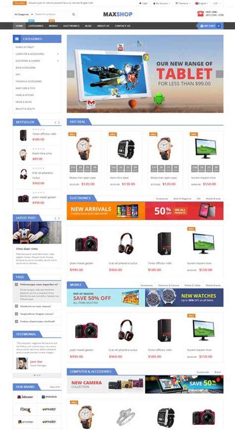 bootstrap themes free shopping cart 47 best free ecommerce wordpress themes 2018 freshdesignweb
