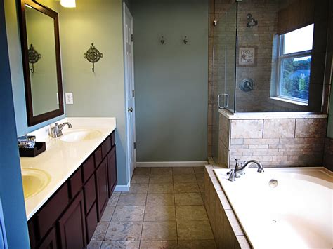 Before And After Shower by Remodelaholic Master Bathroom Before After And Everything In Between